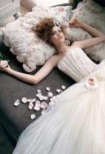 Braut in schönem Kleid