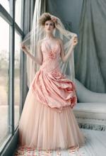 wunderschönes Brautkleid in Rosa