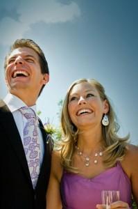 Die Hochzeitsrede wird von Verwandten und Freunden gehalten