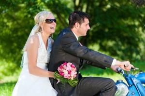 Bei der Biker Hochzeit kann sich alles um das Thema Bike drehen