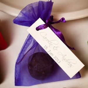 Samenkugel als Gastgeschenk zur Hochzeit